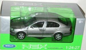 SKODA-Octavia-Gris-Coche-Modelo-de-Metal-Clasico-Motormax-1-24
