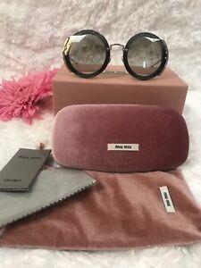a782a524c4c0 Miu Miu Sunglasses MU06SS VYU 5D1 Dark Violet Grey Gradient Women ...