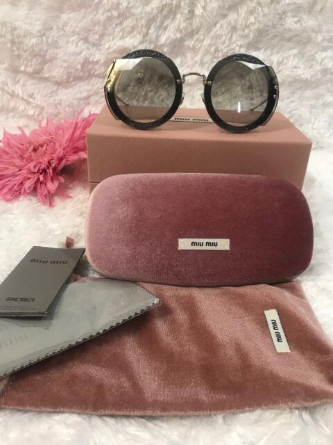 c04d816dc95 Miu Miu Sunglasses MU06SS VYU 5D1 Dark Violet Grey Gradient Women NEW!