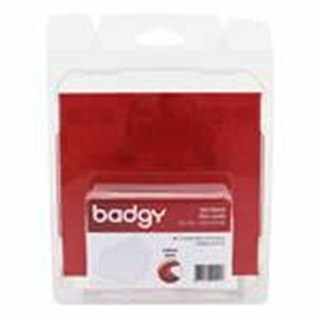 Badgy CBGC0020W 100 Thin Blank PVC Cards 0.50mm (20 Mil) - 1 Box Of 100 Cards