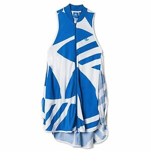 Azul Summer Dress Blanco Trefoil Adidas Fashion Originals Couture HvUwpq