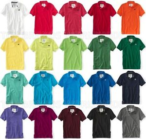 AEROPOSTALE-MENS-SOLID-POLO-SHIRT-TOP-T-SHIRT-NWT-A87-LOGO-SCHOOL-UNIFORM-PIQUE