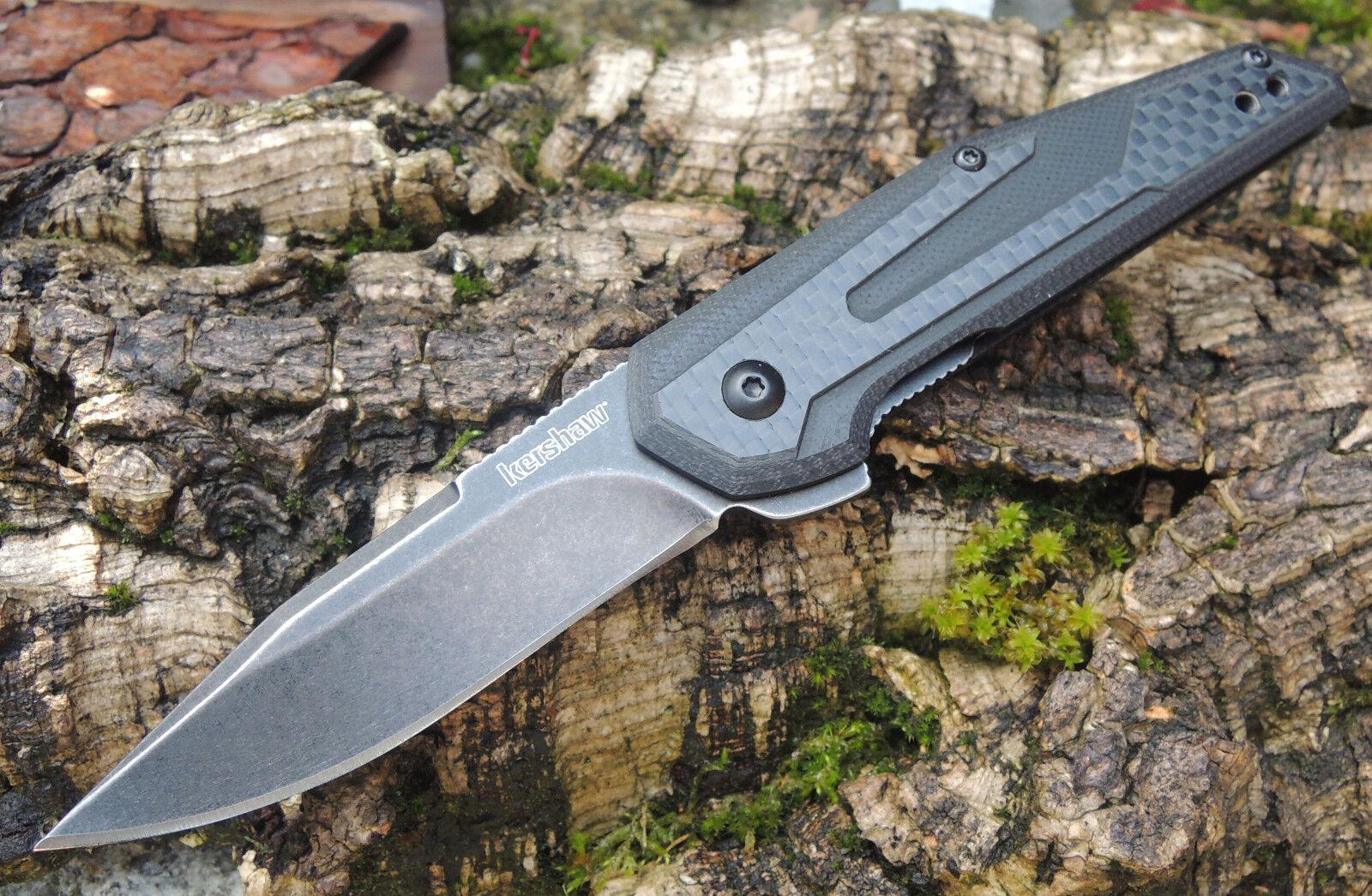 Kershaw Messer FRAXION Taschenmesser 8Cr13MoV Stahl G10 mit Kohlefaserauflage