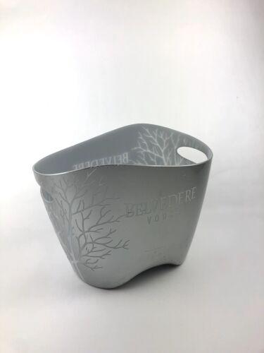 Belvedere Vodka Kühler Silber Eis Box Bucket gebraucht Bar Deko OVP Flaschen