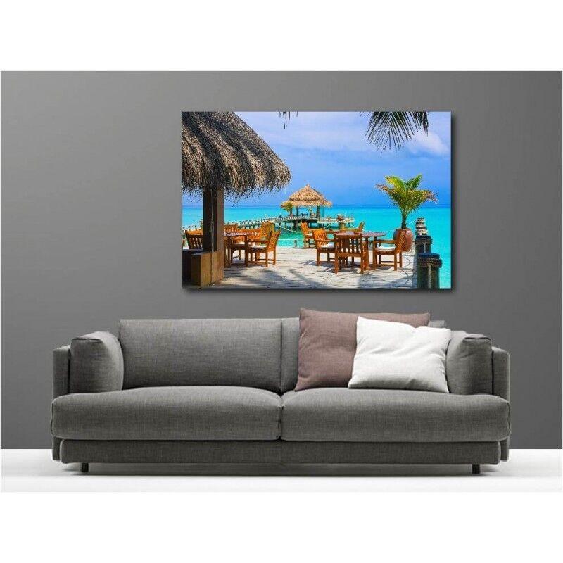 Gemälde Stoff Deko Rechteckig Maldives Terrasse Am Strand 54656083