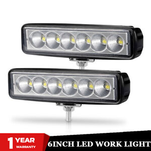 2x-6inch-LED-Work-Light-Bar-Lamp-Flood-Offroad-Truck-SUV-ATV-4WD-4X4-Fog-Driving