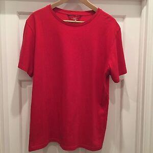 Men-039-s-Large-LOGG-H-amp-M-Red-Original-Short-Sleeve-T-Shirt