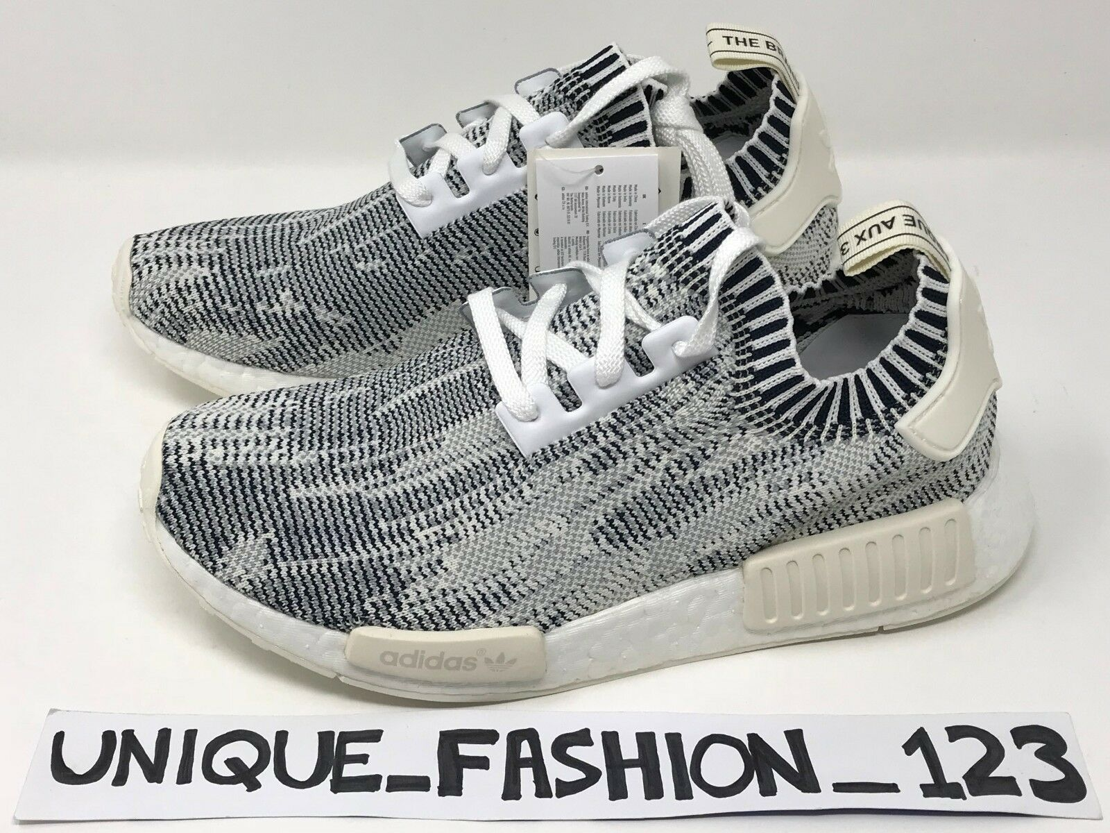ADIDAS NMD R1 PRIMEKNIT GREY CAMO GLITCH CLEAR ONYX UK 6 7 8 9 10 RUNNER BOOST