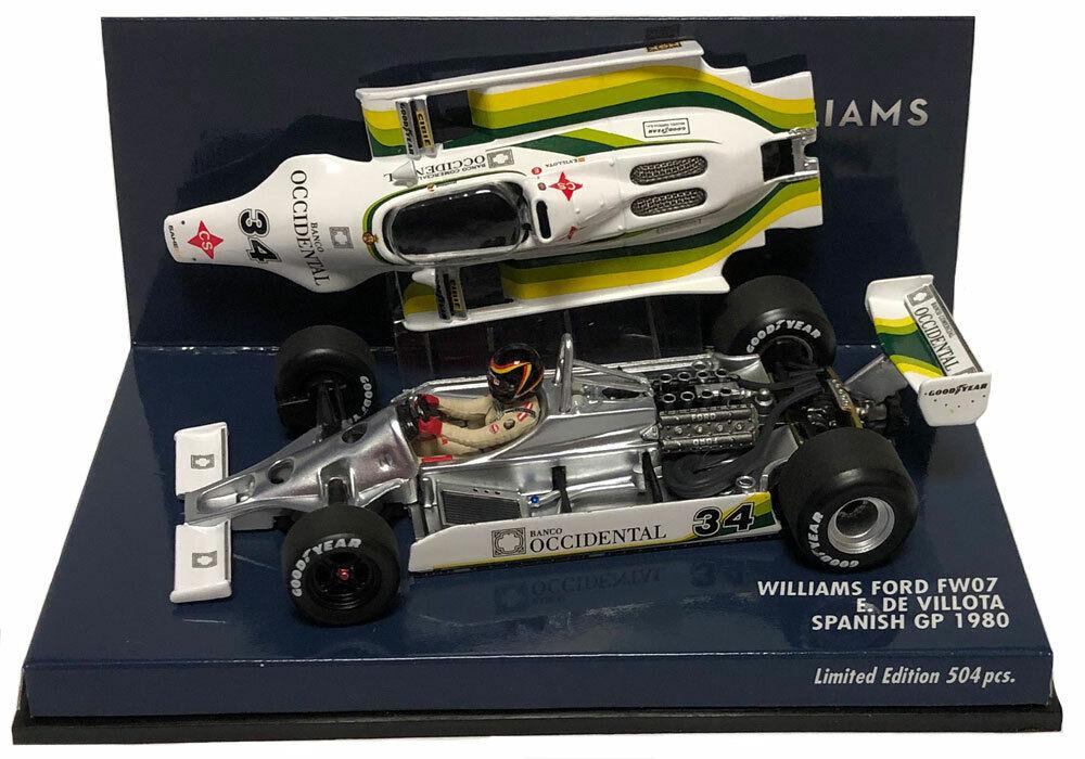 Minichamps Williams FW07  34 Spanish GP 1980-Emilio De villota  SCALA
