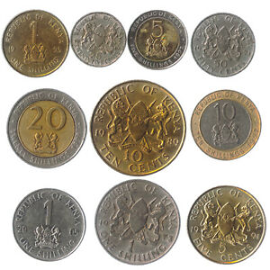 10-EAST-AFRICAN-KENYAN-COINS-FROM-KENYA-OLD-COLLECTIBLE-COINS-LOT-1966-2013