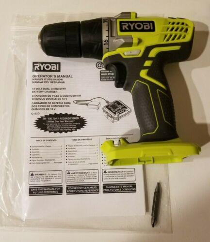 "FAST SHIPPING Ryobi HJP003 12V Li-Ion 3//8/"" Cordless Compact Drill Driver"