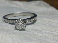 Anello solitario oro bianco 18 kt con Diamante Naturale 0,50 ct - valore 4500