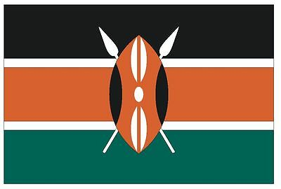 KENYA Flag Sticker MADE IN THE USA F258 CHOOSE SIZE FROM DROPDOWN
