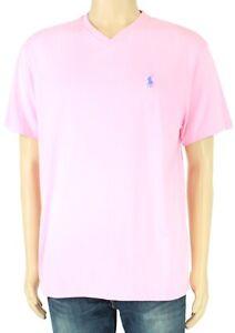 Polo-Ralph-Lauren-Mens-T-Shirt-Pink-Size-Medium-M-V-Neck-Classic-Fit-39-177