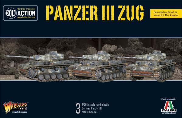Panzer III Zug  3  - Warlord Games - Bolt Azione - Nuovo in Confezione Originale