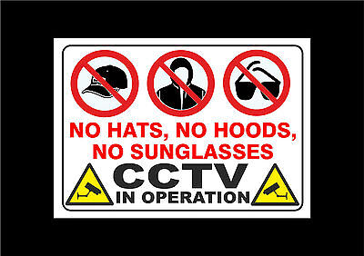 CCTV IS IN OPERATION signs self adhesive stickers more to choose