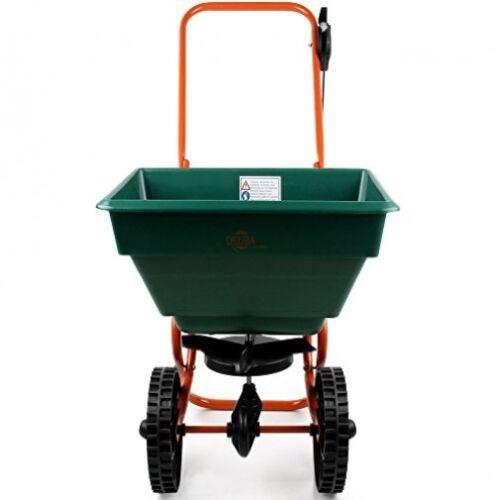 25L Rotary Spreader Road Salt Grit Sand DIY Tool Cart Trolley Snow Clearance Box