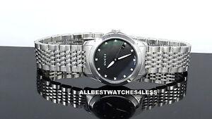 e5d1b19f127 Gucci YA126505 Diamond Black Mother-of-Pearl Dial 126.5 Women s ...