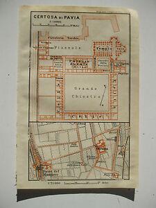 Cartina Lombardia Pavia.Stampa Antica Mappa Pianta Carta Topografica Lombardia Certosa Di Pavia 1911 Ebay