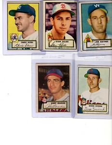 1952 Topps Baseball Card Low Number Starter Set 48 Different Cards Good to EX+