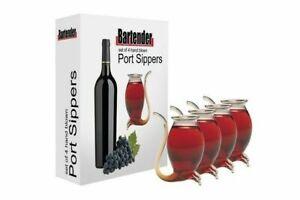 Bartender 7017 Wine Pipe Liqueurs Port Sipper - 4 Piece
