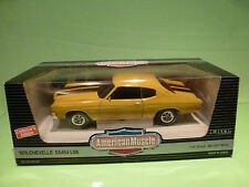ERTL AMERICAN MUSCLE 7487 CHEVROLET CHEVELLE SS45 LS6 1970 - YELLOW 1:18 - NMIB