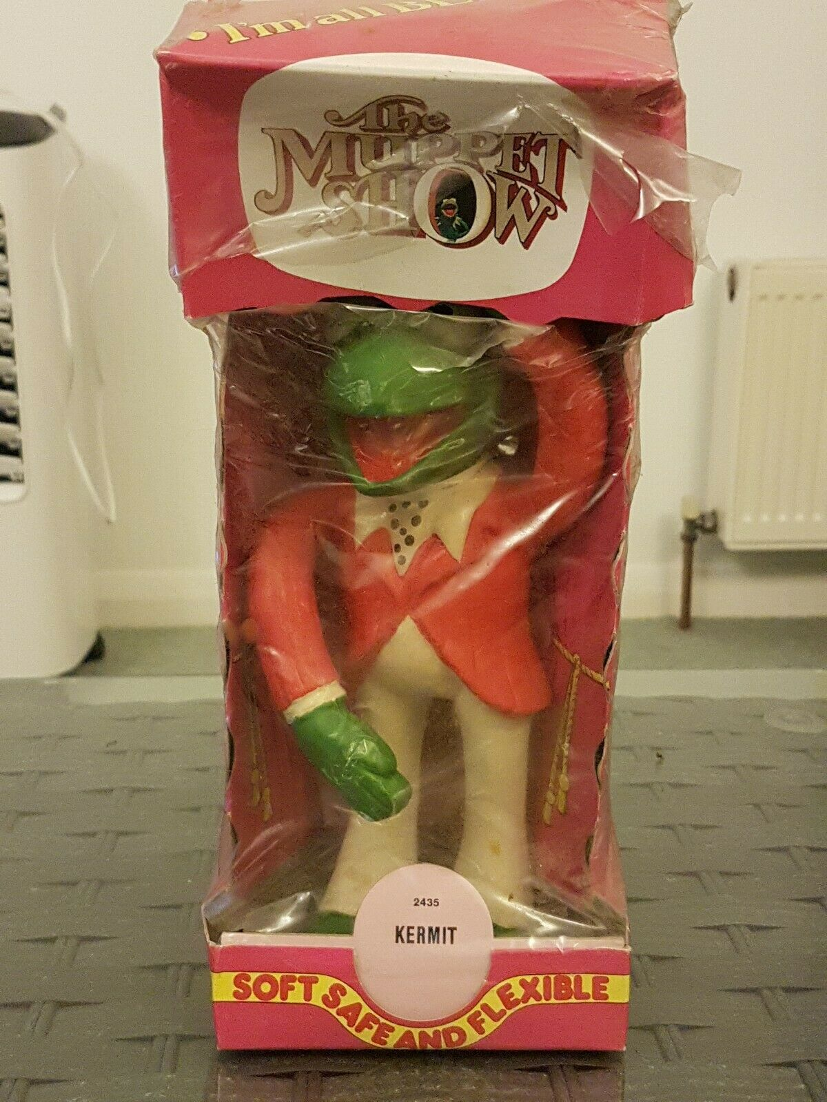 Vintage BOXED Kermit The Frog (The Muppets Show) Bendy Toy NRFB