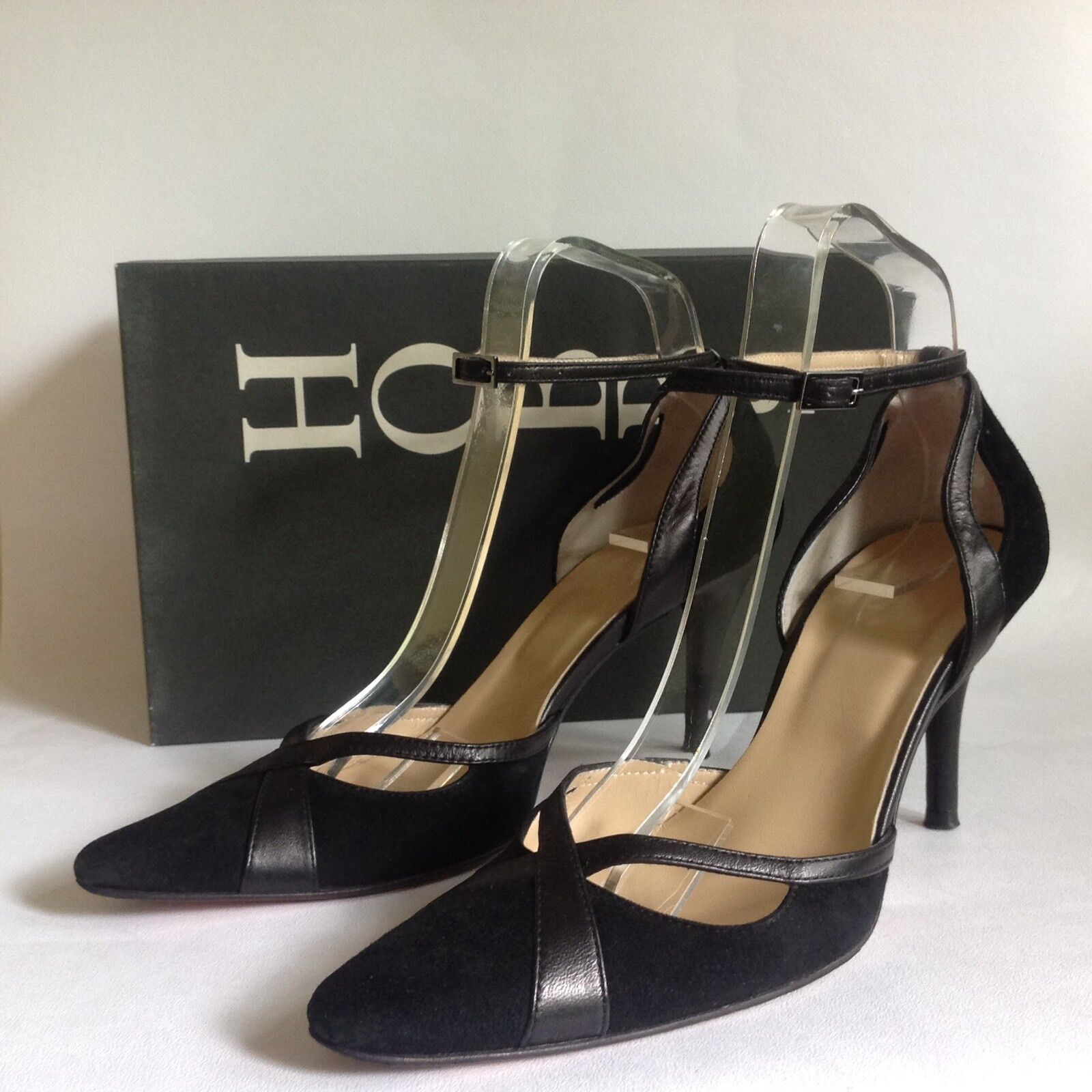 Hobbs Black Suede & Leather Mary Jane 3.5