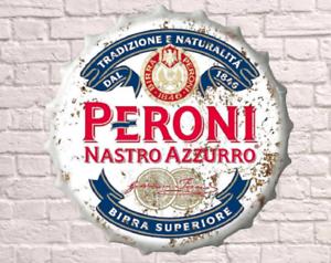 40 cm Peroni Lager Bière Rétro Vintage Wall Display signe métal bouteille bouchon ART