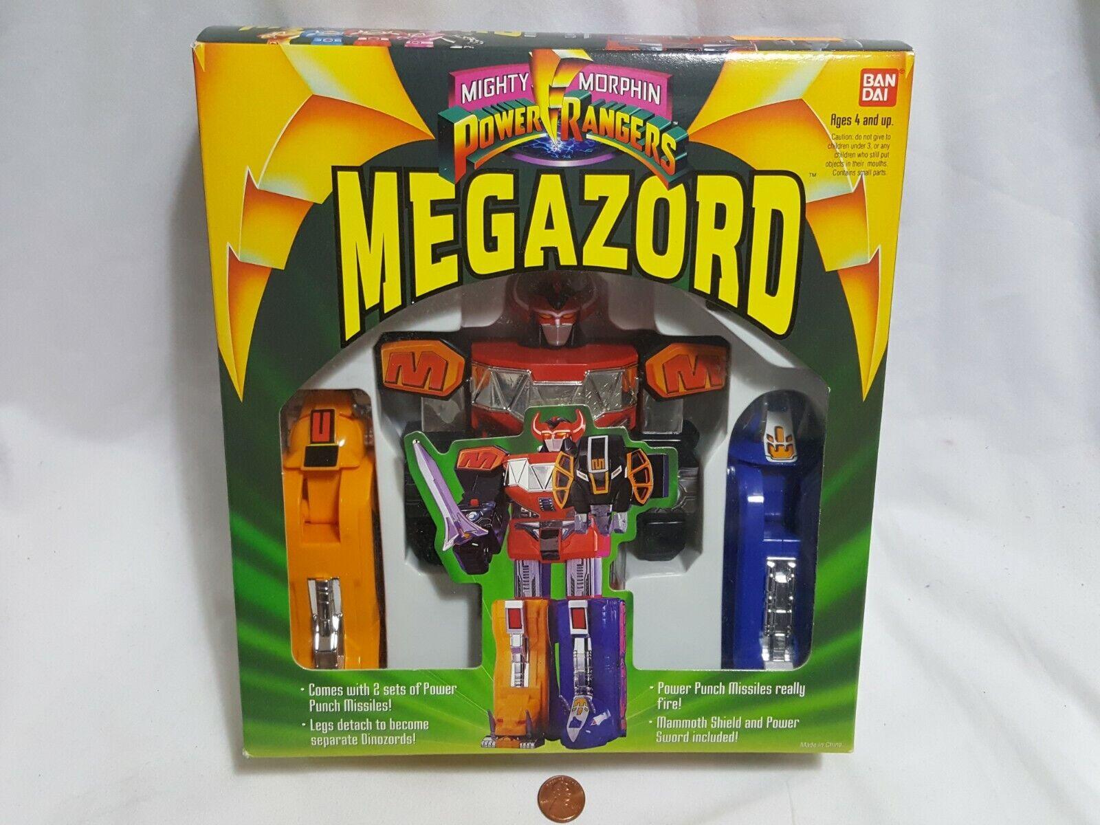 Nuevo paquete (con desgaste) Power Rangers Megazord Figura Sellada 1993 Mega Zord MMPR