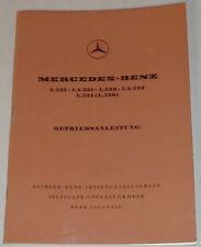 Betriebsanleitung Mercedes Benz LKW OM 326 von 1962