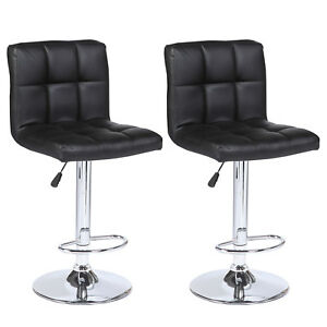 Image Is Loading Set Of 2 Counter Height Bar Stools Leather
