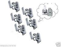 6 Pack Sliver Universal Speaker Wall Mount Brackets For Bose Jbl Yamaha Philips