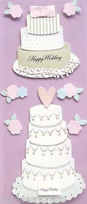 Hauch Touch of JOLEE's 3-D Sticker Kuchen Blumen Ehe Hochzeit Kuchen