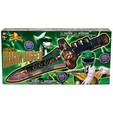 MIGHTY MORPHIN POWER RANGERS_LEGACY DRAGON DAGGER_Die-Cast_Gold Plated_New & MIB