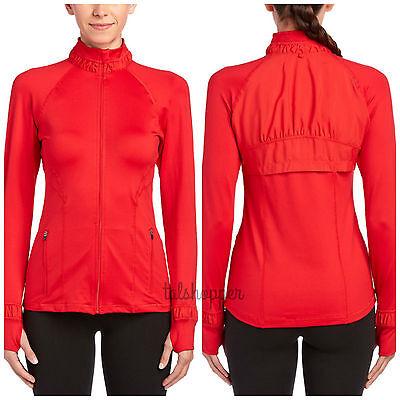 NWT $128 SPANX L Athletic Jacket RED Shaping Sports Exercise Shapewear Large