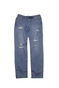 Vince Camuto Blue Ripped Blue Wash Skinny Jeans 0