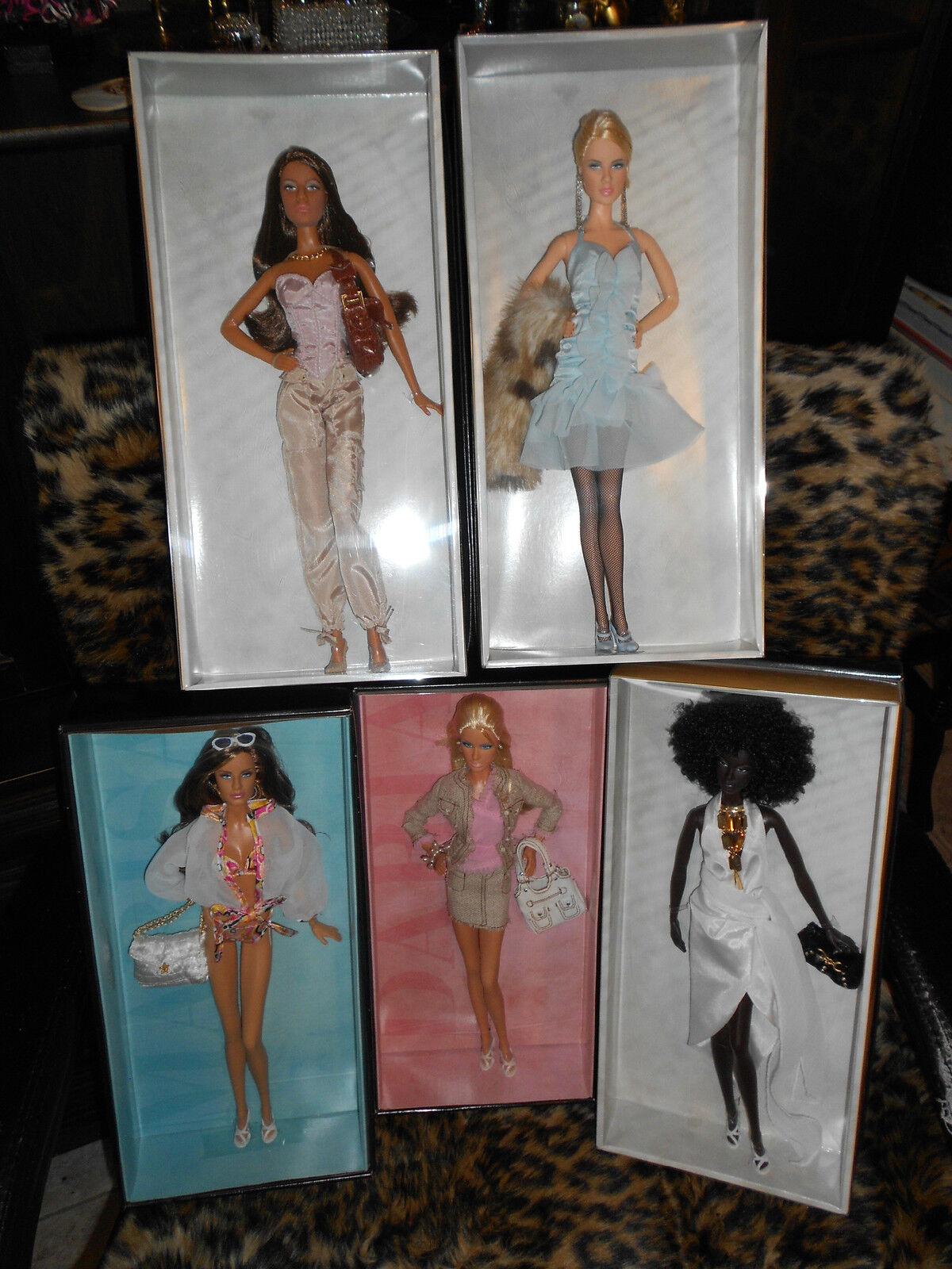 Modelos de ese momento (oro Label) conjunto De 5 Muñecas Barbie colector para adultos