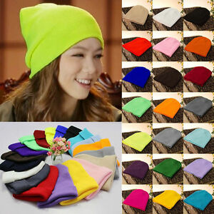 Women-Man-Warm-Wool-Beanie-Knit-Ski-Cap-Hip-Hop-Blank-Color-Warm-Unisex-Hat
