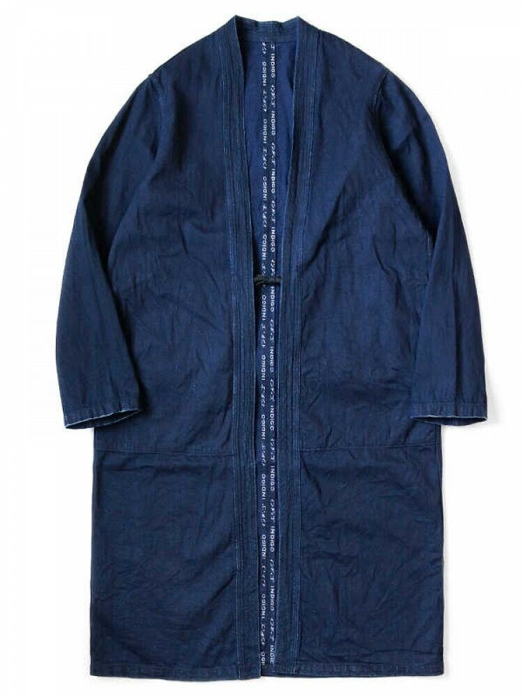 Kapital herren Long Coat 8oz IDG x IDG Selvedge Denim KAKASHI Fast Ship Japan EMS