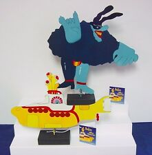 Beatles 2 Metal SCULPTURES Save 50% Yellow Submarine & Blue Meanie FREE USA SHIP