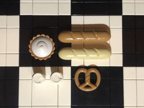 Lego Nourriture Et Boisson//Pain//Bretzel//Pie//Café//Ustensile//Boulangerie