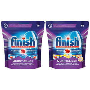 9858f2081807 Image is loading Finish-Powerball-Quantum-Max-60-Dishwasher-Tablets-Pack-