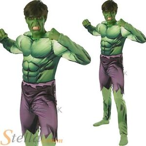 image is loading mens incredible hulk avengers halloween fancy dress costume