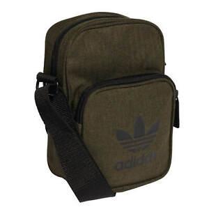3002189d8c416 Das Bild wird geladen Adidas-Mini-Bag-Casual-dark-olive-kleine -Umhaengetasche-