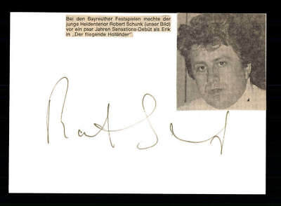 National FleißIg Robert Schunk Original Signiert # Bc 115362