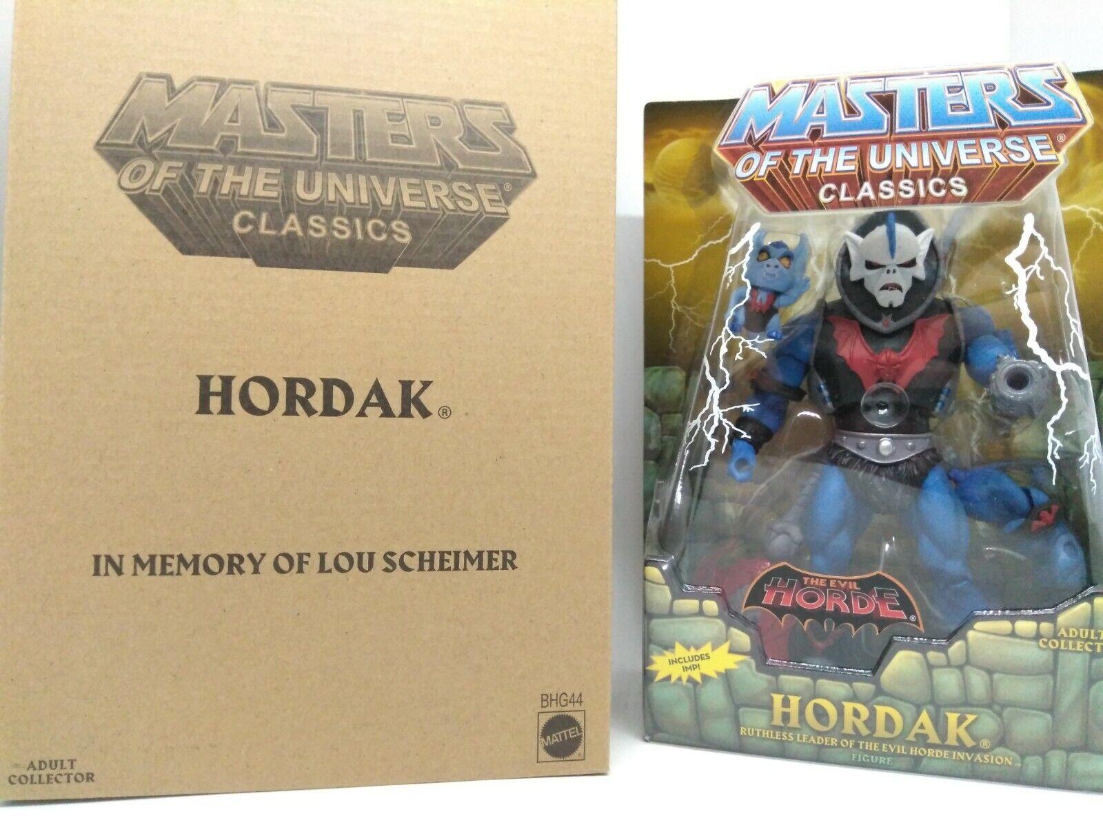 MOTUC Masters of the Universe Classics Lou Scheimer Hordak Loose w box complete