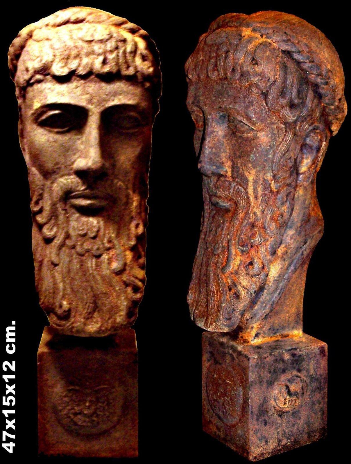 Griego antiguo escultura Zeus Olímpico Dios Arte Estatua Busto tamaño real 47cm obra de arte