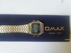 OMAX-MEN-WOMEN-LCD-Digital-Chronograph-Silver-Tone-Metal-Watch-Retro-style
