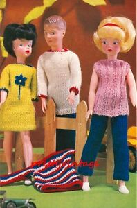 Free Knitting Patterns For Action Man Dolls : VINTAGE KNITTING PATTERN TO MAKE SINDY BARBIE KEN ACTION MAN DOLL CLOTHES eBay